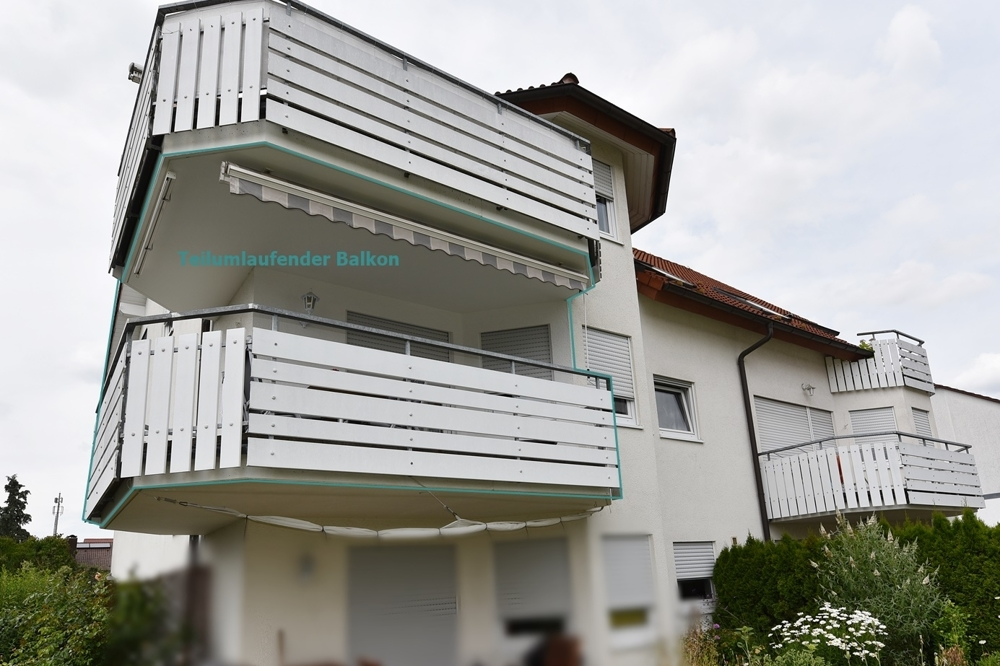 Teilumlaufender Balkon