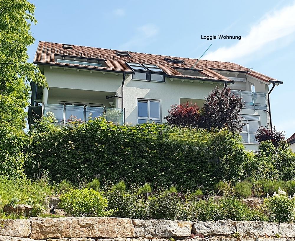 Haus Rückseite Loggia