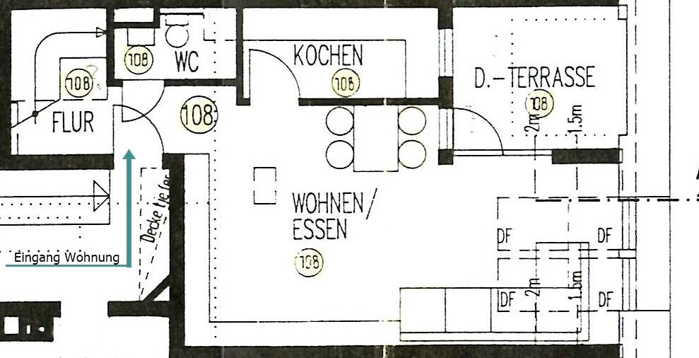 Plan Wohnung Wohngeschoss
