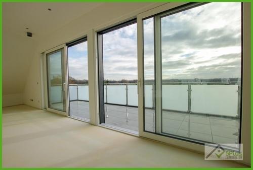 Aussicht aus der Penthouse-Wohnung