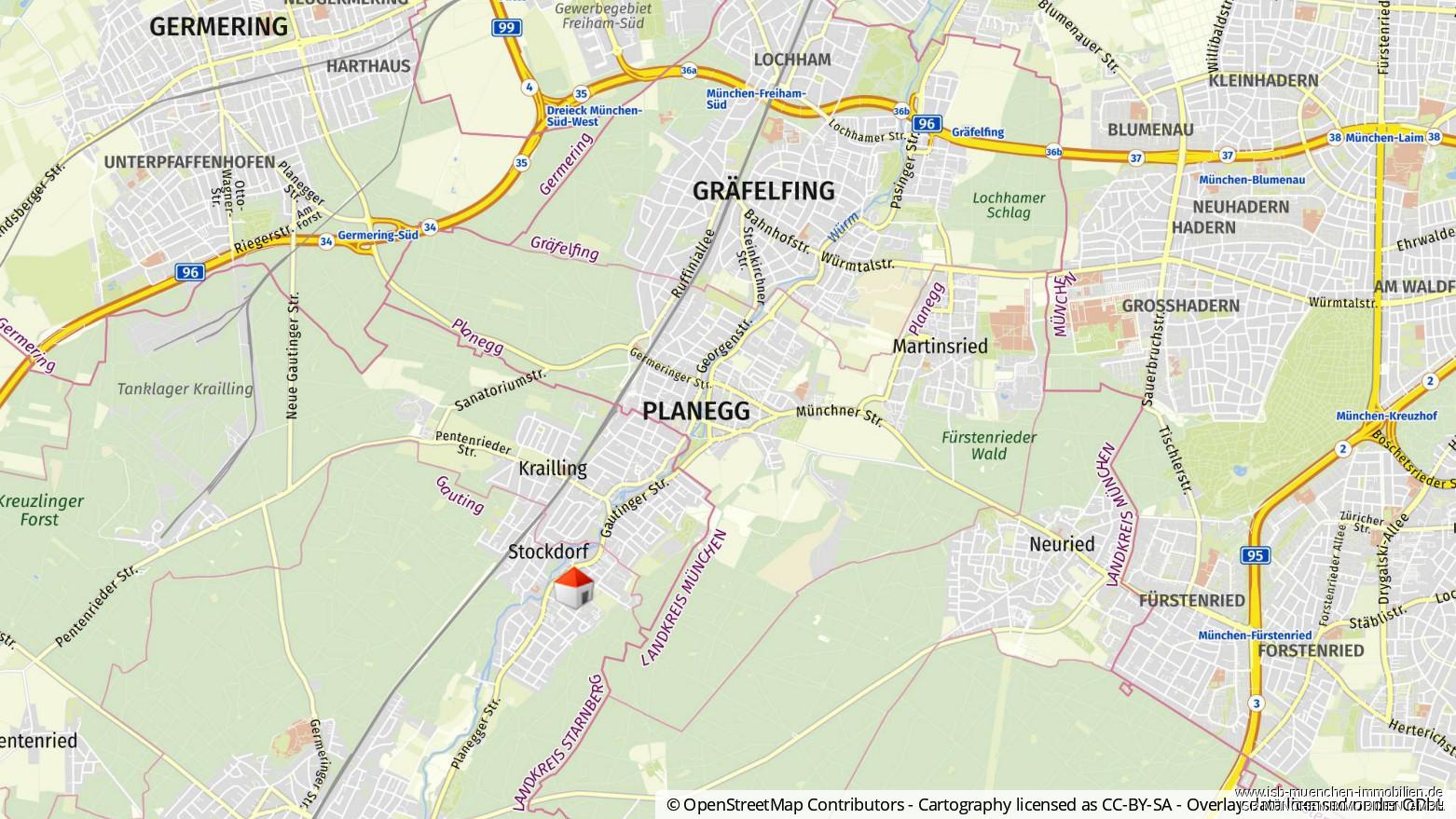 Geolyzer Kartenausschnitt