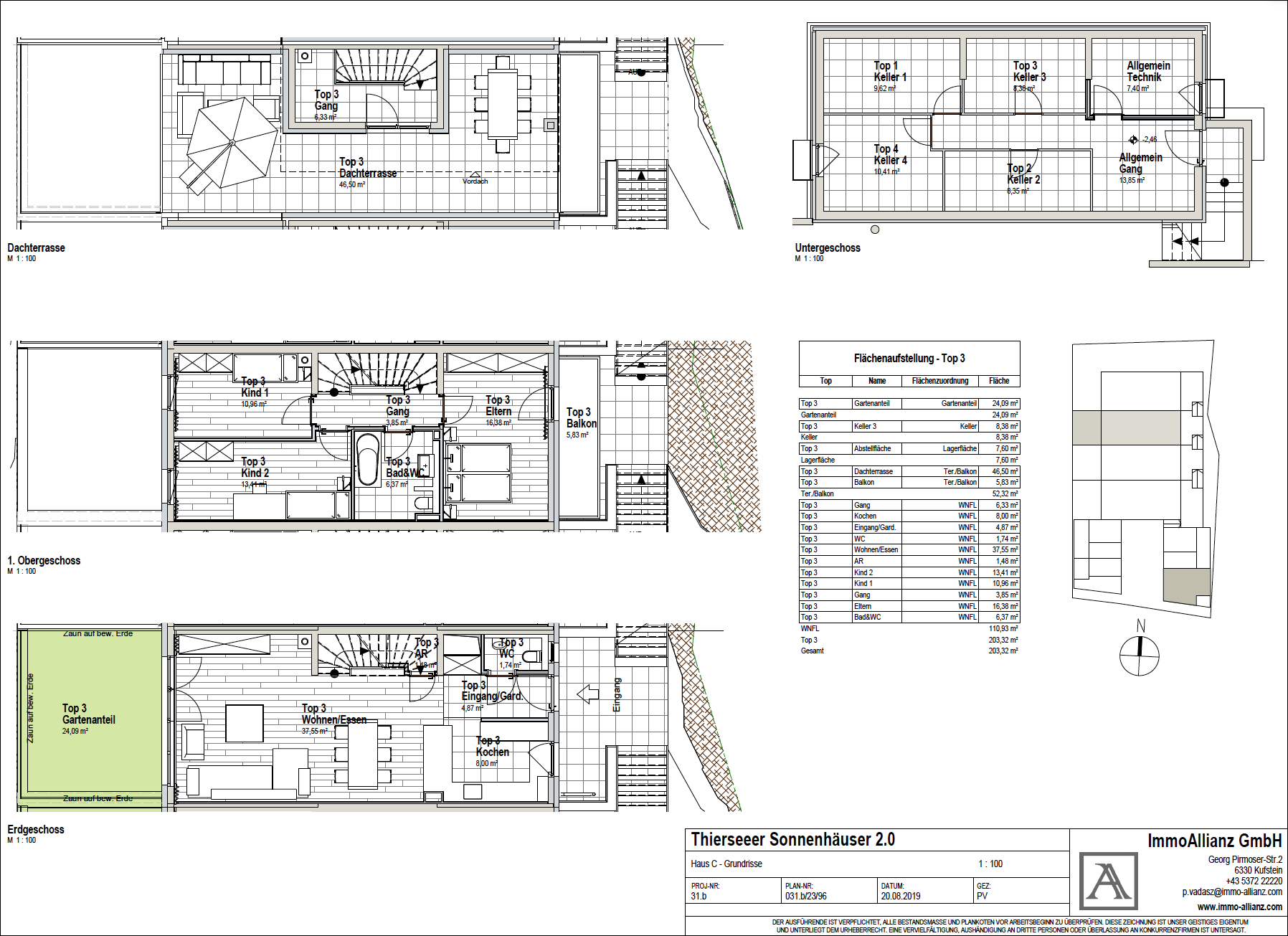 Grundrisse Haus C Top 3