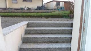 Treppenausgang zum Hinterhof