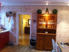 Küche mit Zugang Wohnzimmer