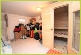 Kellerraum mit Sauna und Dusche