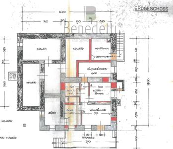 GROßZÜGIGE  VILLA IN SCHÖNER PANORAMALAGE PARTSCHINS Erdgeschoss