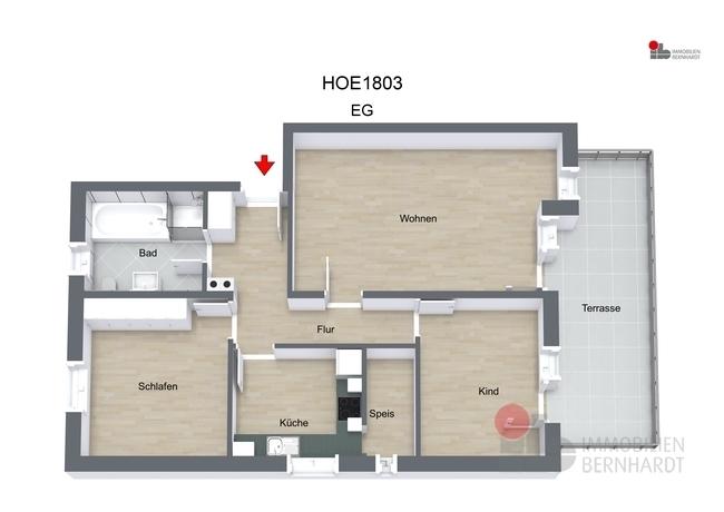 HOE1803 - EG - 3D Floor Plan