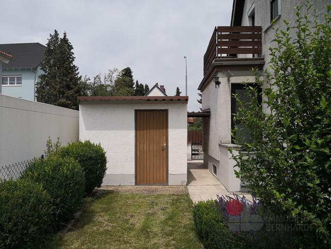 Gartenhaus Rückseite