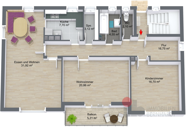 Obergeschoss - 3D Floor Plan
