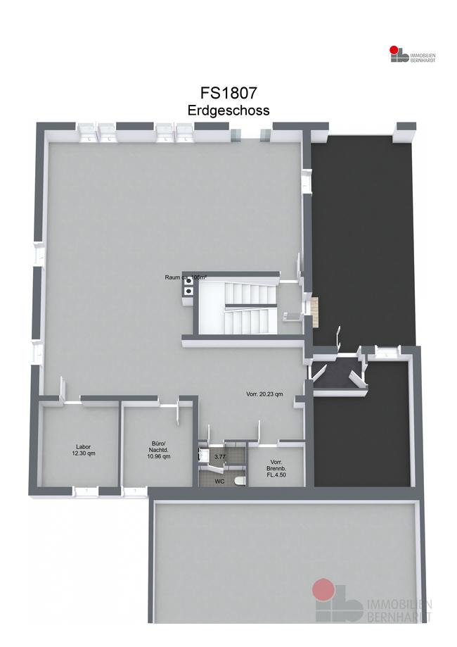 FS1807 - Erdgeschoss - 3D Floor Plan