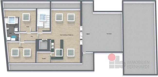 Köschning-Marktplatz2-DG - DG - 3D Floor Plan