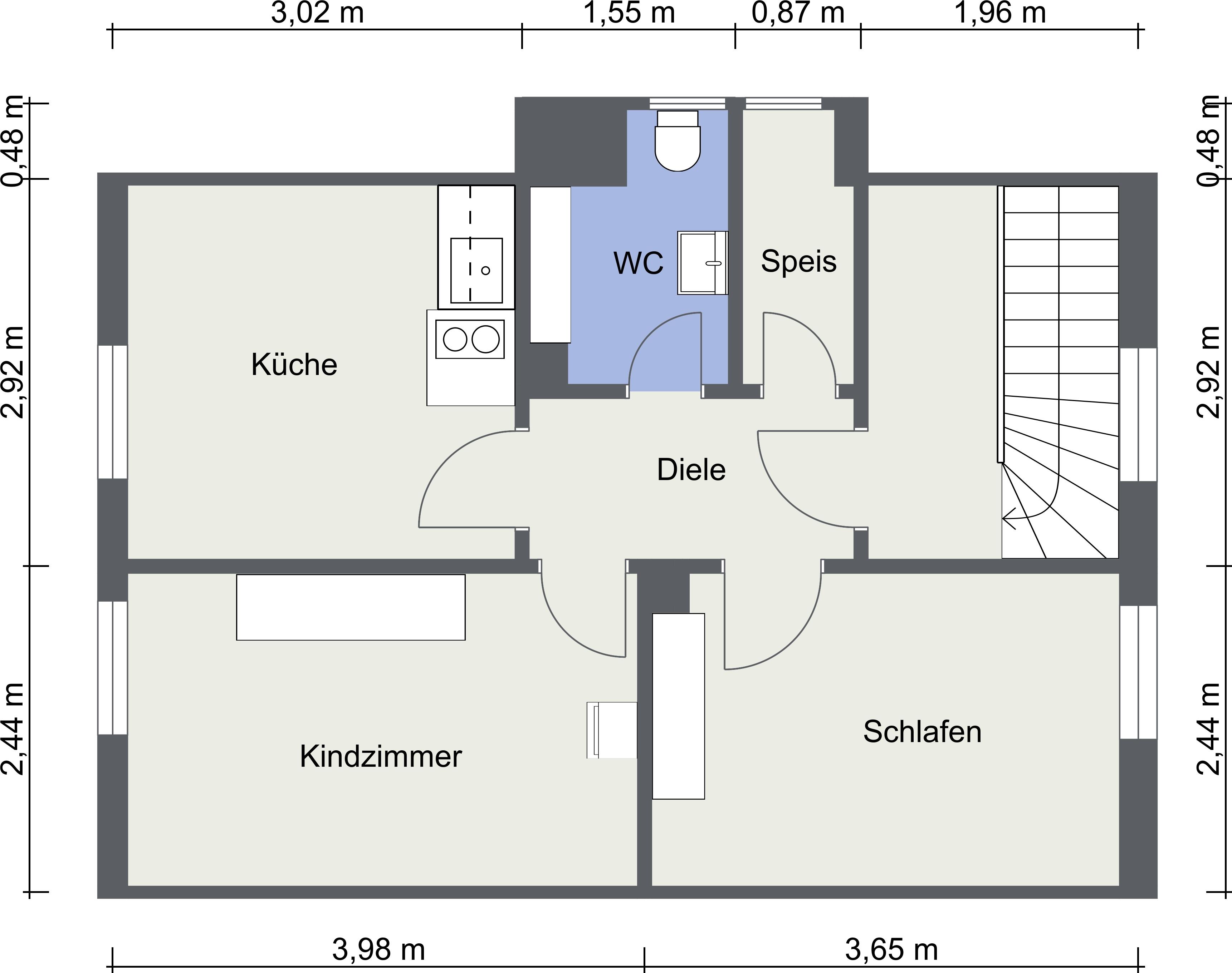 Dachgeschoss - 2D Floor Plan