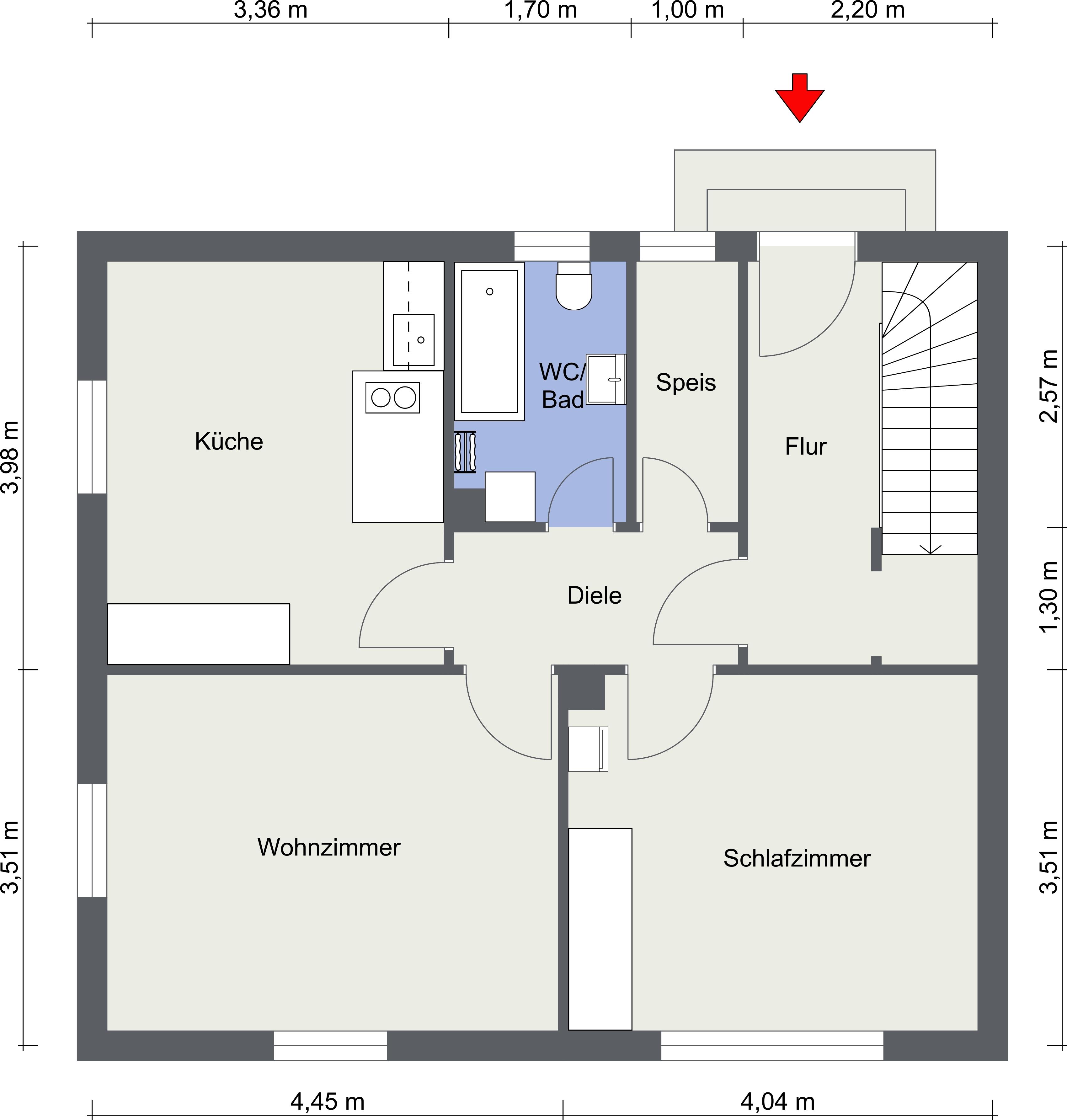 Erdgeschoss - 2D Floor Plan