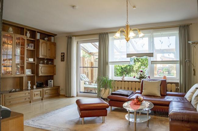 Wohnzimmer Blick auf Terrasse