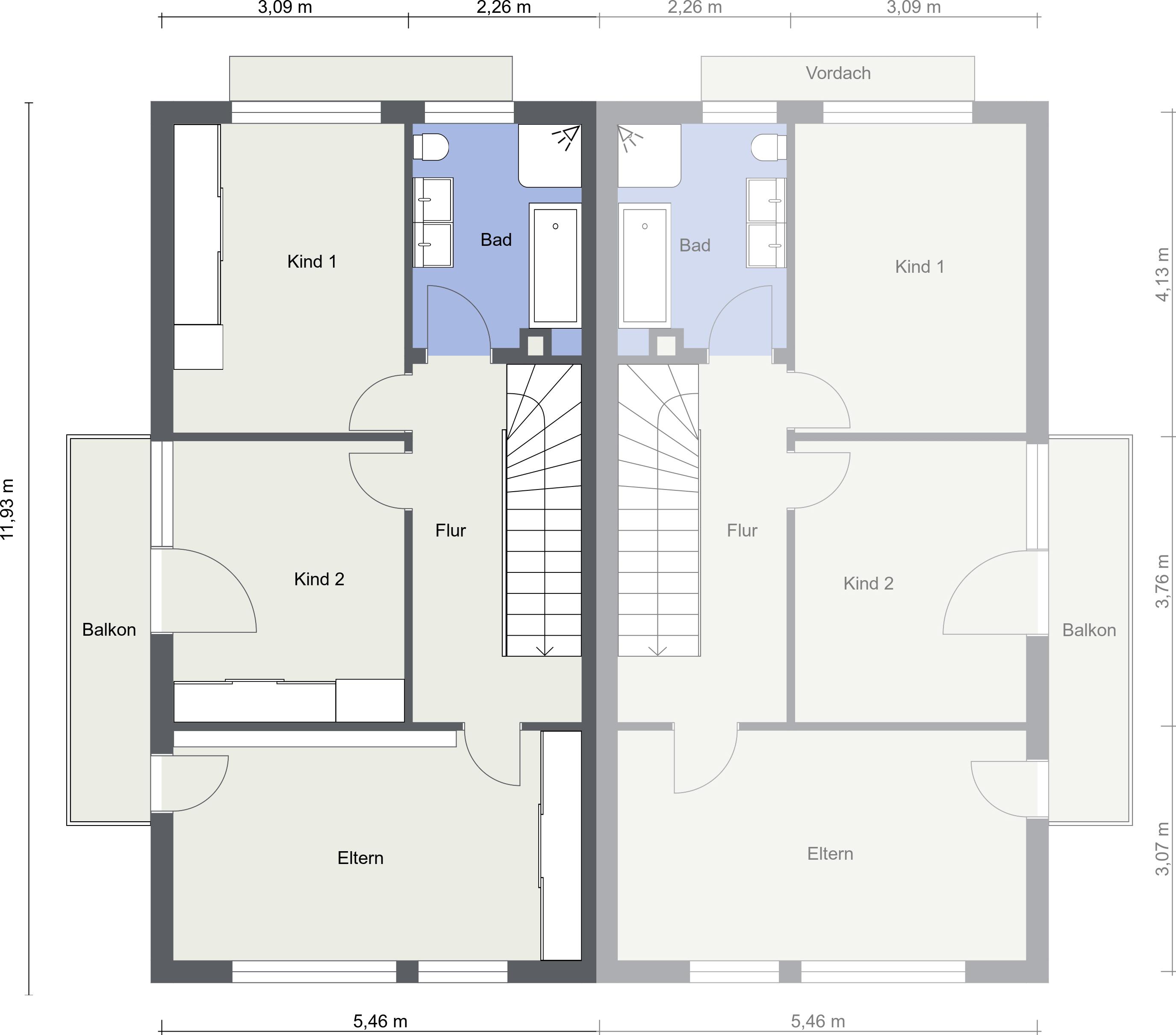 1. Obergeschoss - Grundriss