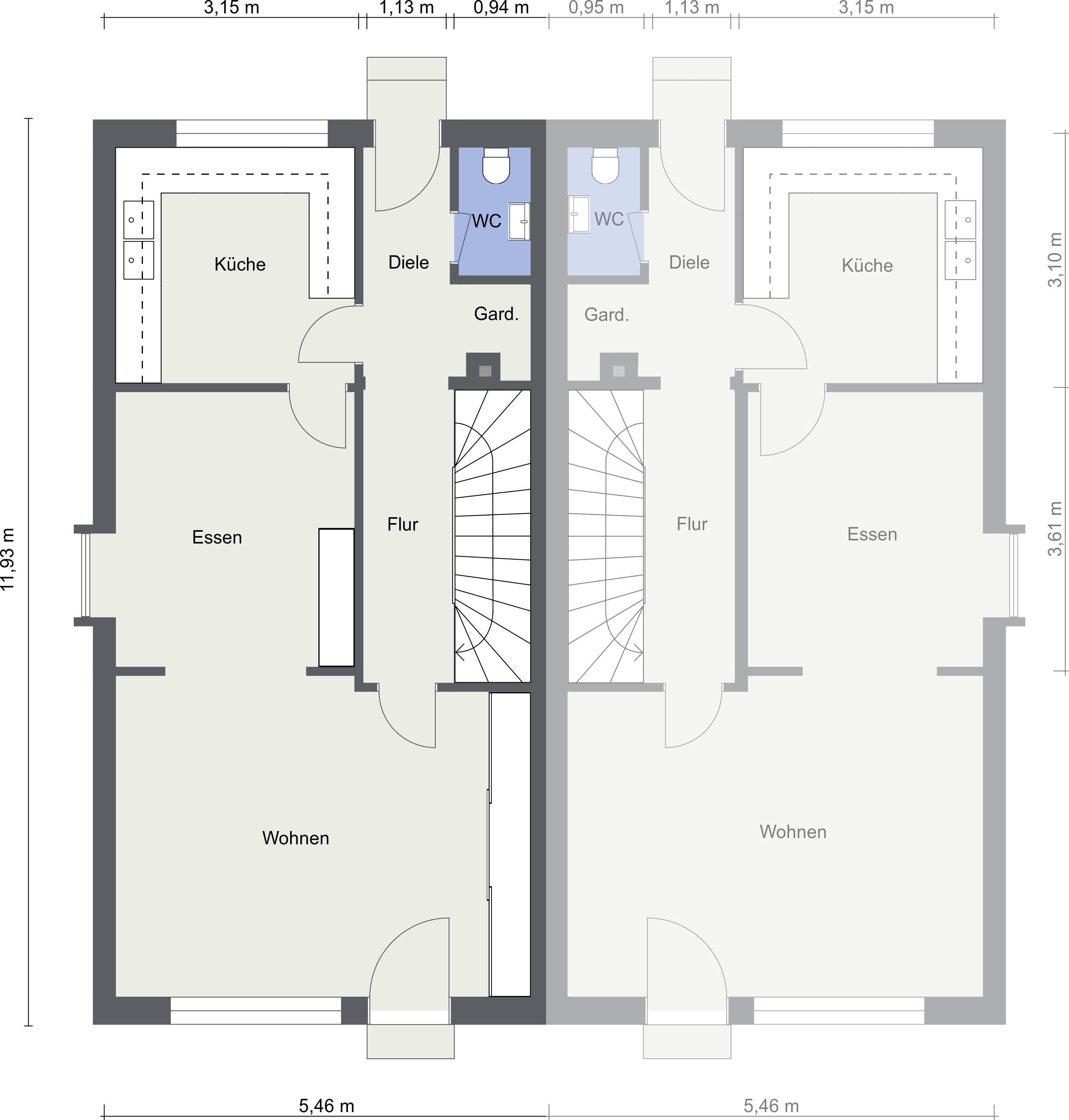 Erdgeschoss - Grundriss