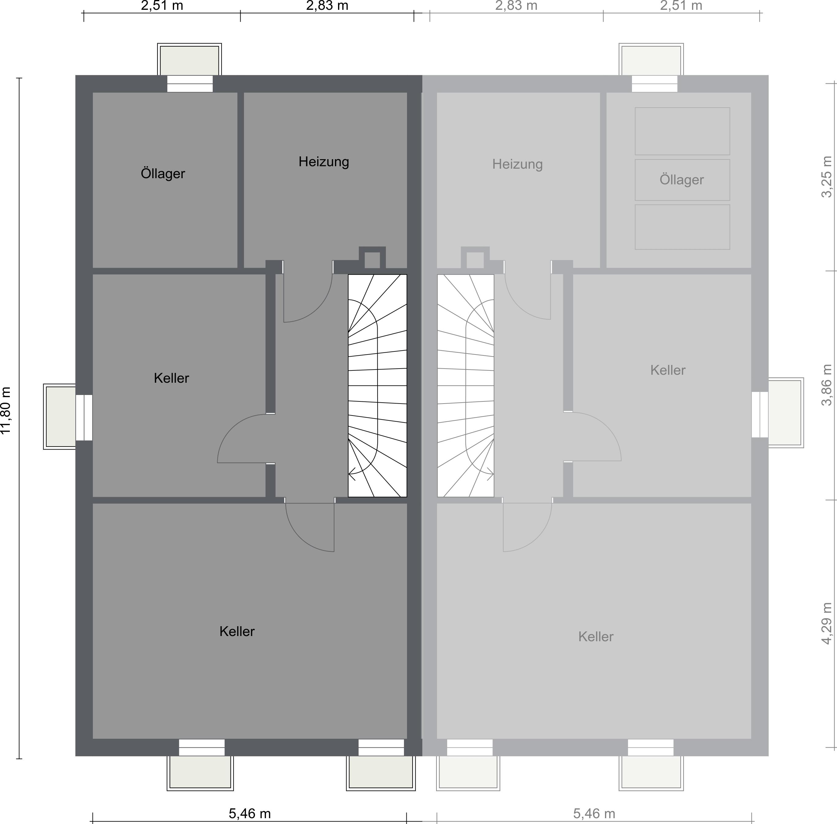 Kellergeschoss - Grundriss
