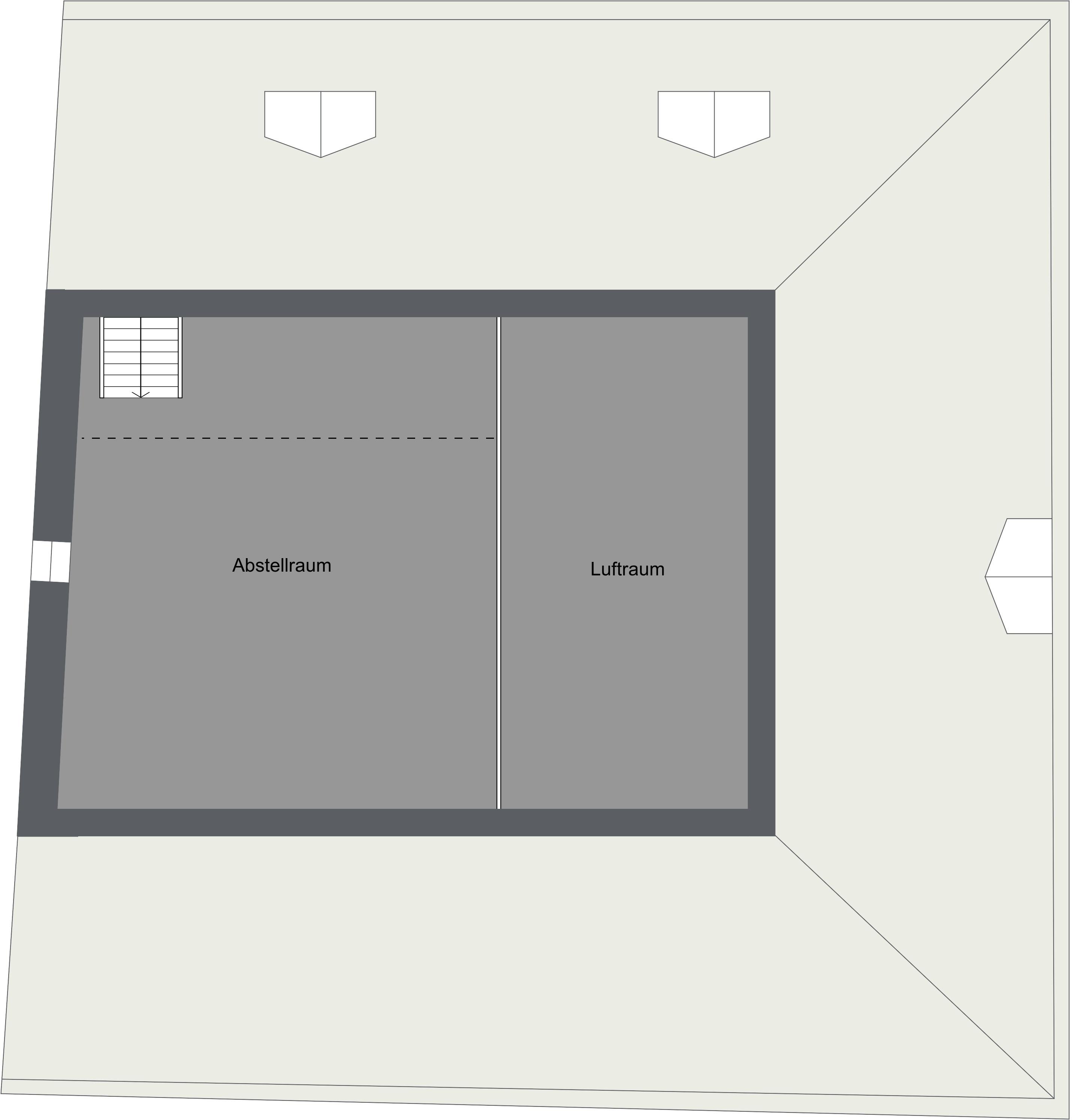Dachgeschoss-Boden
