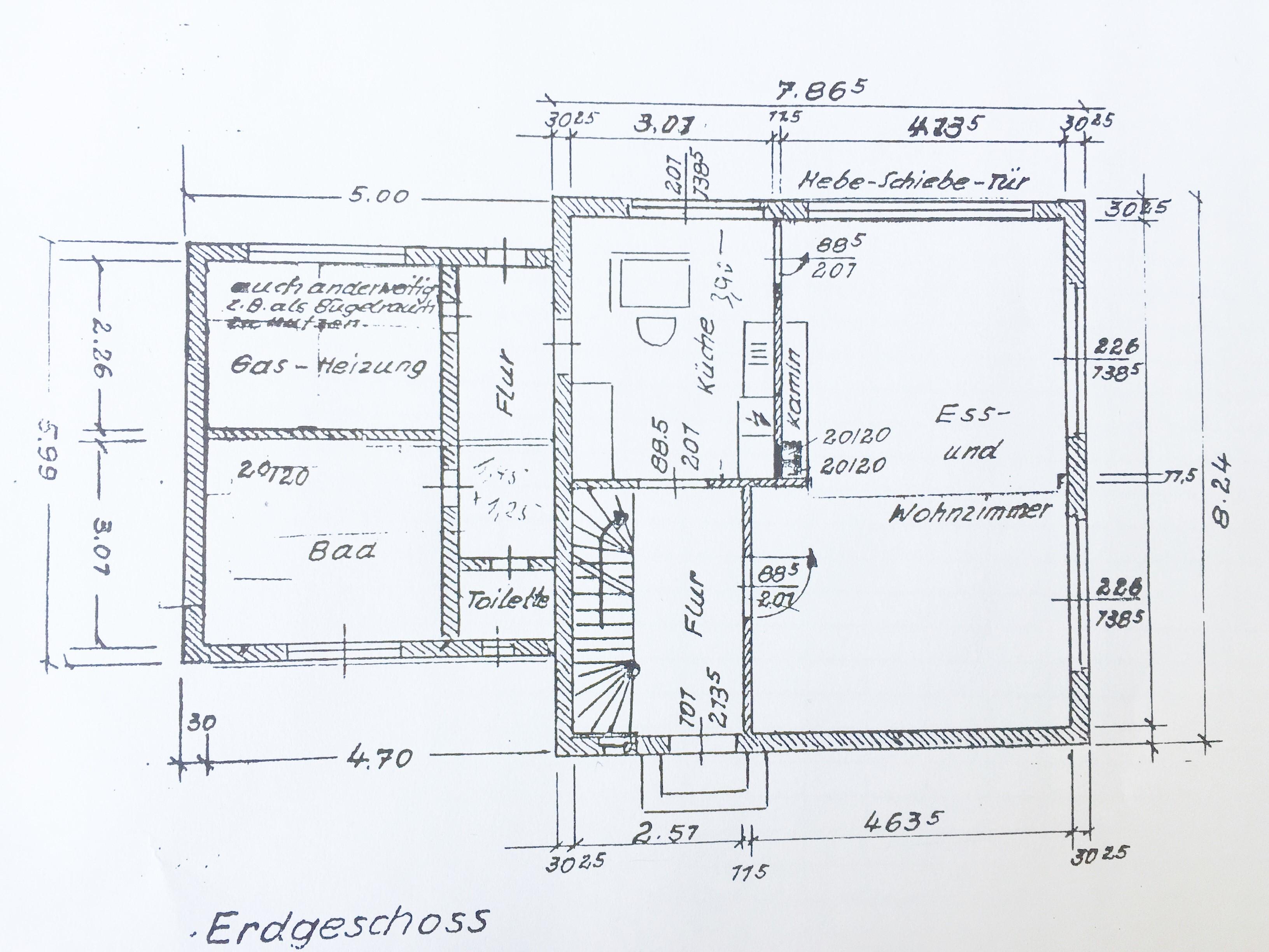 Skizze Erdgeschoss