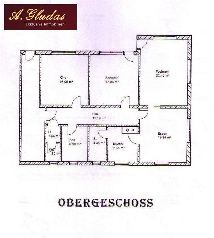 Grundriss - 1. OG 108,55 m²