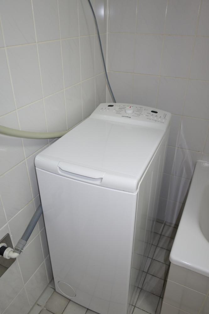 Waschmaschine im Bad