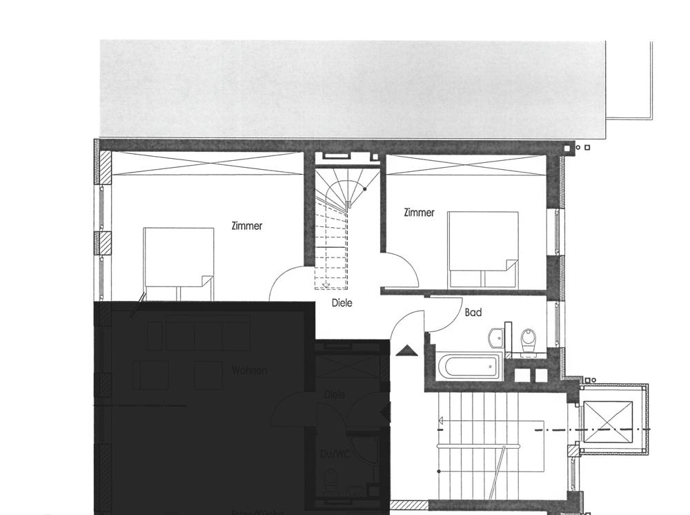Grundrisse Eingang Maisonette Dachgeschoss