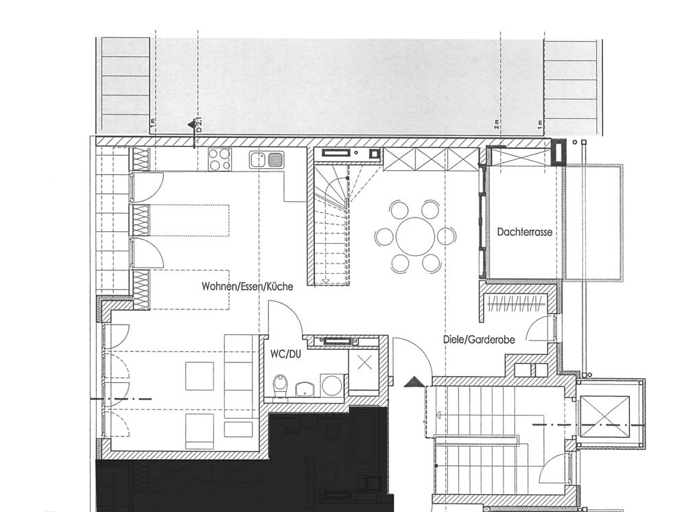 Grundrisse ObergeschossMaisonette Dachgeschoss