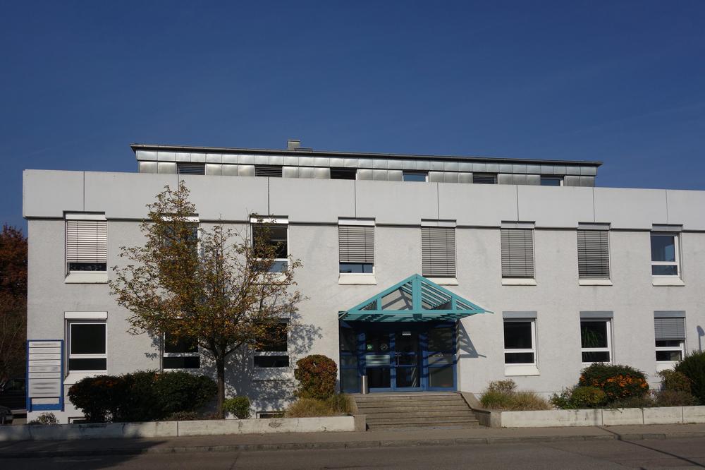 Fassadenansicht Bürogebäude, Eingang