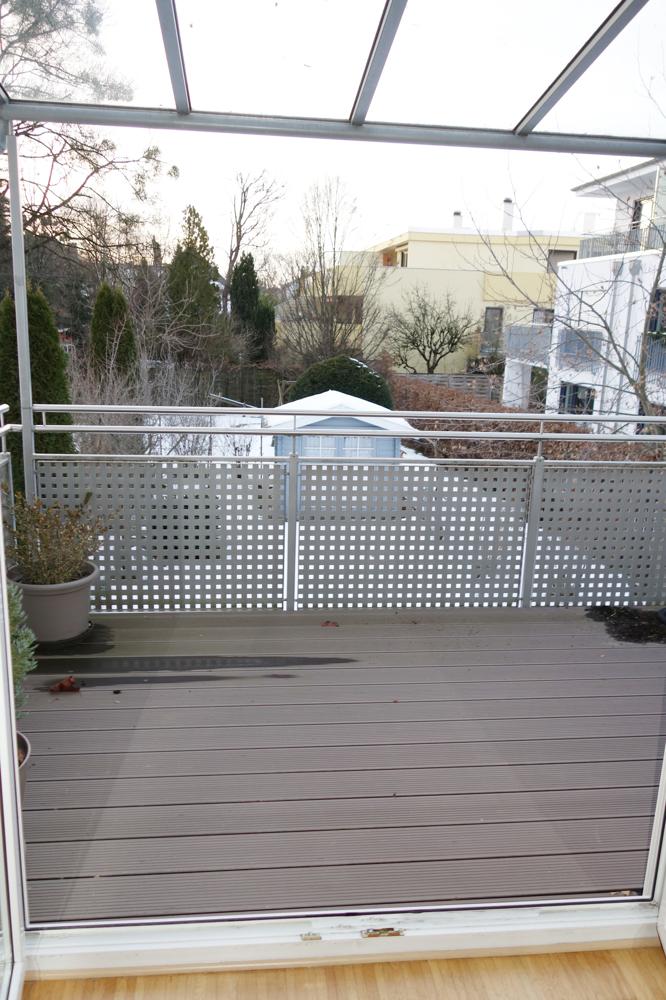 überdachter Teil der Terrasse
