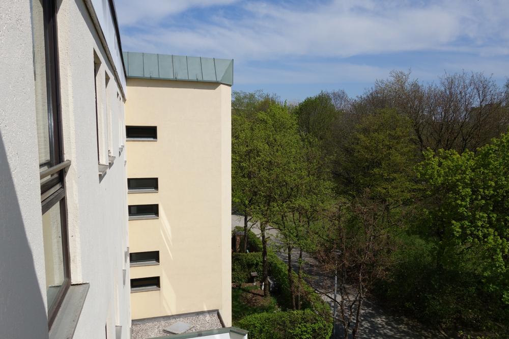 Aussicht vom Treppenhaus 3.OG