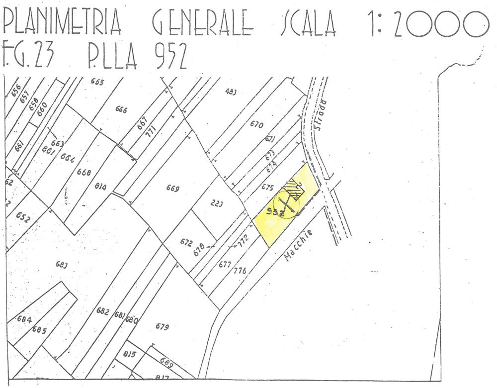 Lageplan, Planimetria Genereale