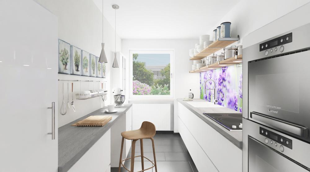 Küche MUSTER-Möblierung (Illustration)