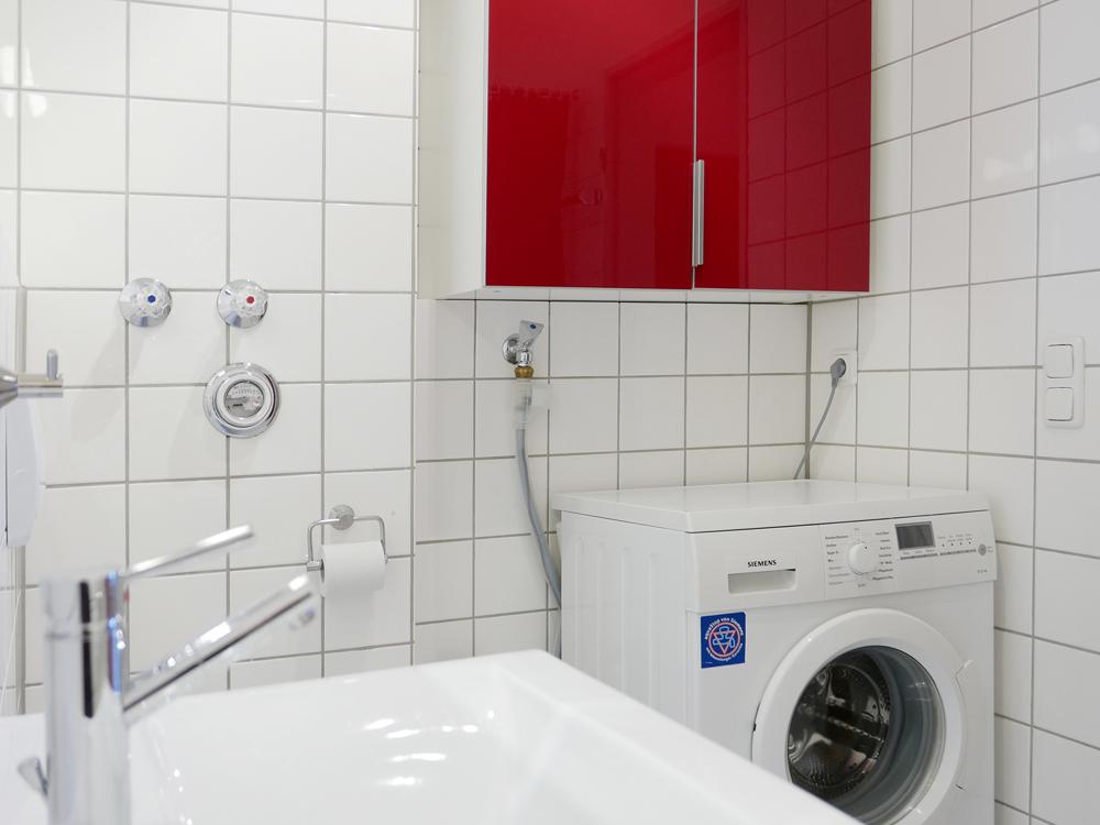 Wannenbad mit Waschmadchine