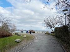 Blickachse vom Gebäude zum Bodensee