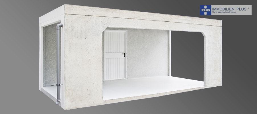 Beispiel: Garage ohne Trennwannd