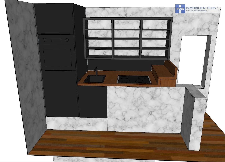 Plan der neuen Küche