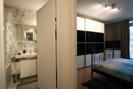 Blick Bade-und Schlafzimmer