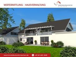Haus Sommerborn - Gartenansicht der 175m² Wfl. großen DHH - auch als freistehendes EFH realisierbar !