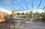 Teil der Terrasse mit Überdachung aus UV-Schutzglas ca. 18m² auf Zinkkonstruktion