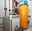 Rapido (=Vaillant) Niedertemperaturheizung mit Brauchwassertank, Wasererwärmung unterstützt durch Photovoltaik
