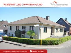 Eckansicht des großzügigen freistehenden EFH in Eschweiler