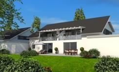 Haus Sommerborn - Gartenansicht der Doppelhaushälfte