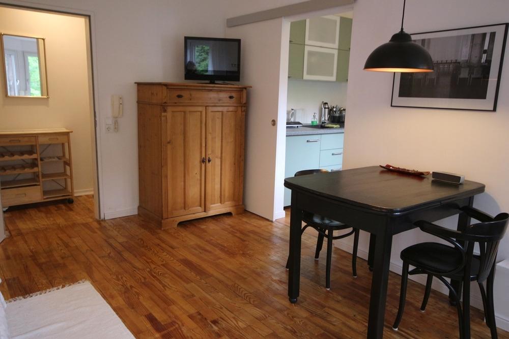 Wohnbereich Blick in die Küche