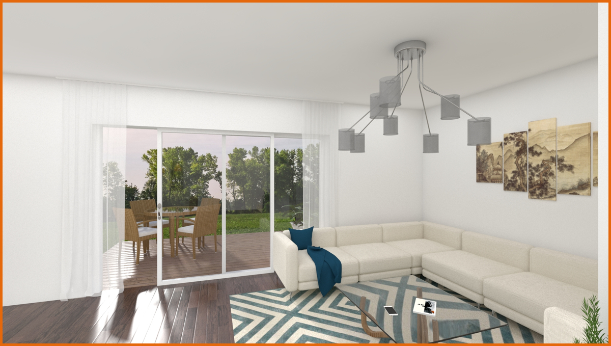 Wohnzimmer 3 D