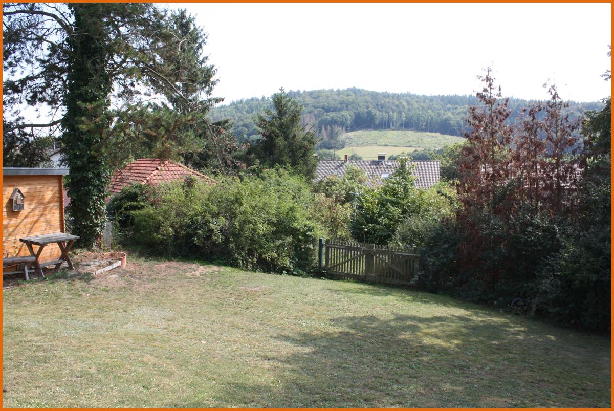 Garten-Eingang-Baugrundstück