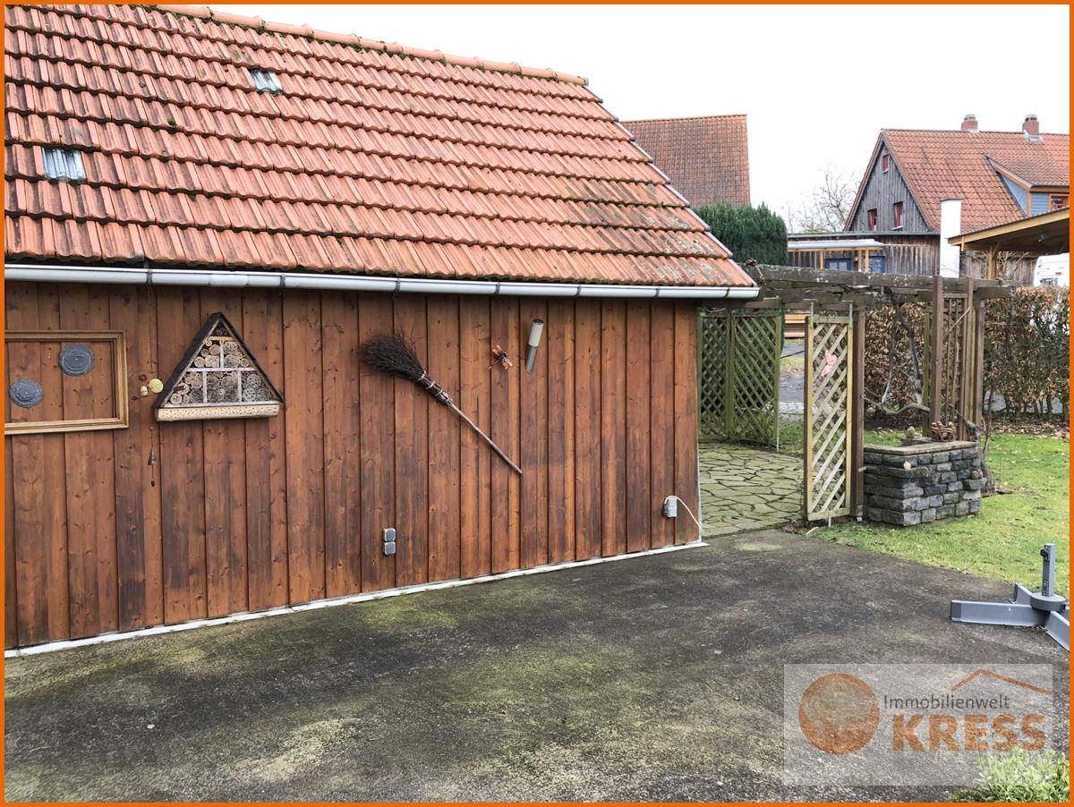 Holzhaus für Gartengeräte