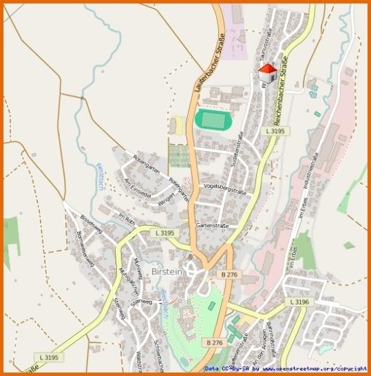 Lageplan Ortslage Birstein