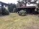 Ansicht mit Blockbohlenhaus