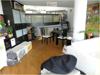 Wohnzimmer mit Blick auf Arbeitsebene
