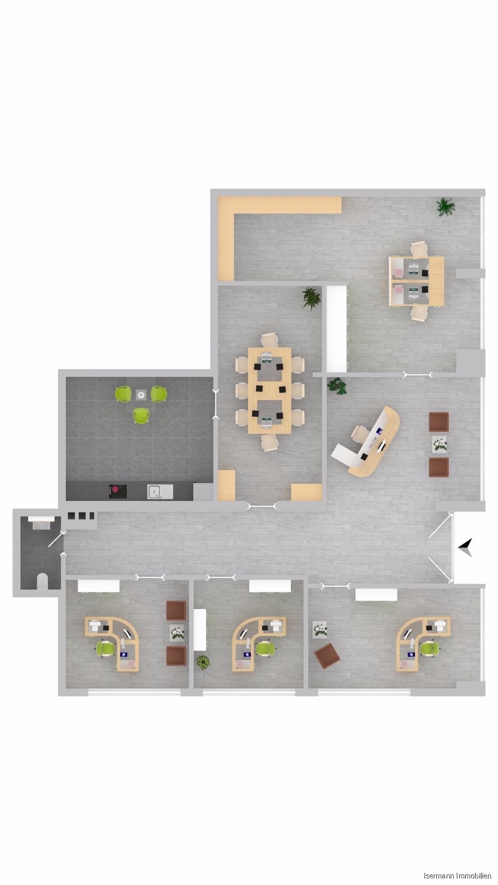 Grundriss-Beispiel für Büroflächen